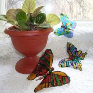 бабочки из пластиковых бутылок 24