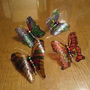 бабочки из пластиковых бутылок 25