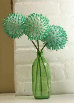 цветок из ватных палочек 7