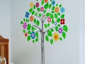 Дерево на стене своими руками 10