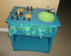 Детская кухня своими руками из старой мебели