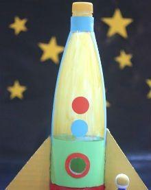 детская поделка ракета из бутылки 3
