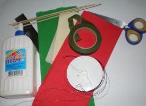 гвоздика из гофрированной бумаги 1