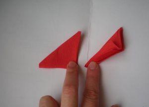 гвоздика из гофрированной бумаги6