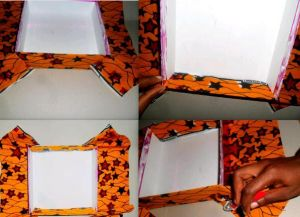 декорирование коробок из под обуви 5