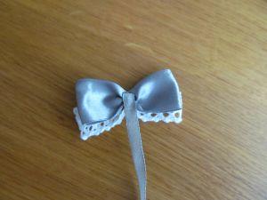 (галстук-бабочка из атласной ленты фото 7)