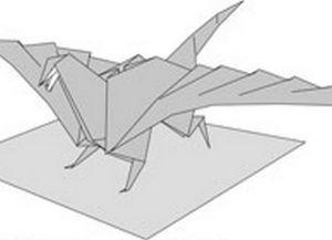 как сделать динозавра из бумаги (1)
