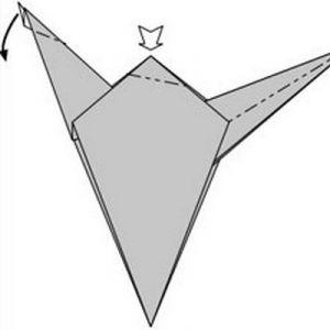 как сделать динозавра из бумаги (12)