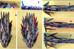 как сделать динозавра из бумаги (19)