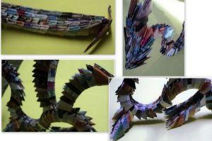 как сделать динозавра из бумаги (22)