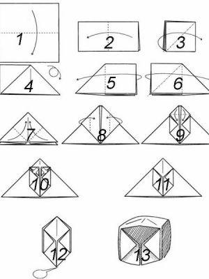 как сделать из бумаги бомбочку (1)
