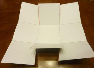 как сделать коробку из бумаги 11