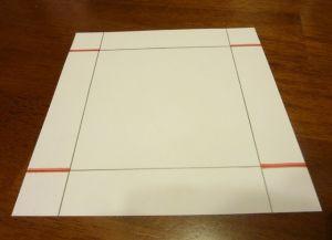 как сделать коробку из бумаги 2