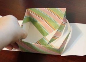 как сделать коробку из бумаги 52