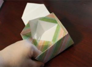 как сделать коробку из бумаги 53