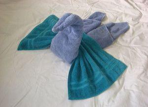 как сделать лебедя из полотенца 11