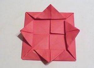 Как сделать розочку из бумаги12
