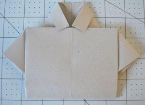 как сделать рубашку из бумаги фото 10
