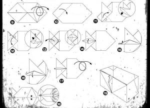 Как сделать шкатулку из бумаги2