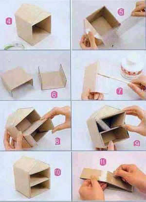 Как сделать шкатулку из бумаги5