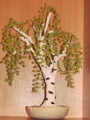 как сделать ствол для дерева из бисера 29