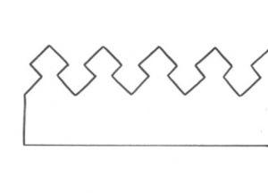 корона из фетра выкройка 1
