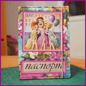 обложка на паспорт скрапбукинг мк 23