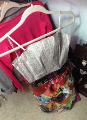 платья из подручных материалов 26