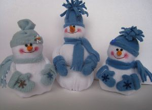 снеговик из фетра (1)