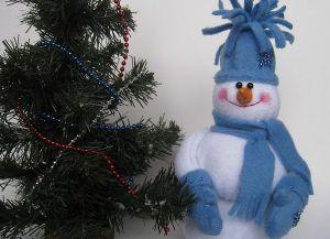 снеговик из фетра (15)