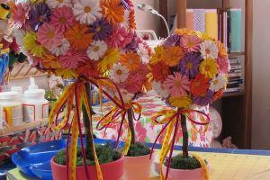 топиарии из искуственных цветов 11