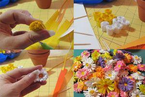 топиарии из искуственных цветов 13