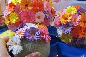 топиарии из искуственных цветов 15