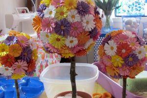 топиарии из искуственных цветов 20