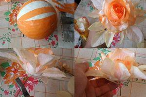 топиарии из искуственных цветов 4