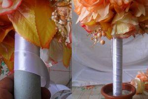 топиарии из искуственных цветов 9