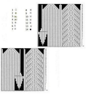 узор для детских варежек спицами 4