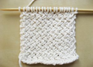 Узор плетенка спицами 10