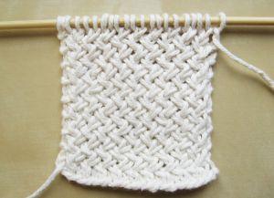 Узор плетенка спицами 18