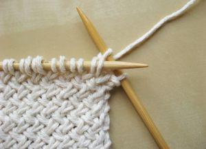 Узор плетенка спицами 6