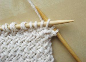 Узор плетенка спицами 7