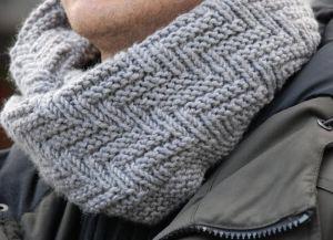 Узоры спицами для мужских шарфов_2