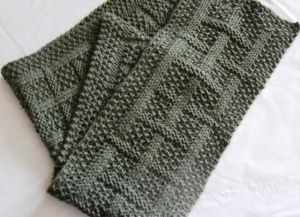 Узоры спицами для мужских шарфов_5
