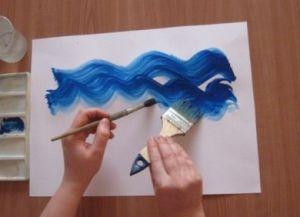 как нарисовать аквариум с рыбками