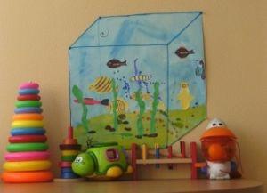 как нарисовать аквариум с рыбками 4