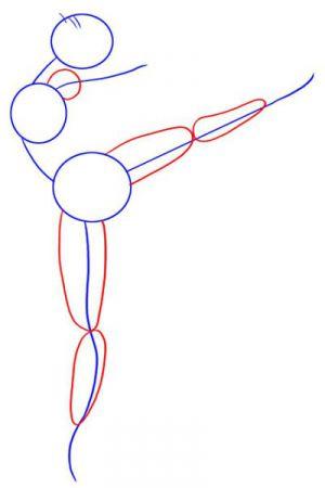 Как нарисовать балерину 11