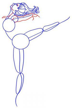 Как нарисовать балерину 13
