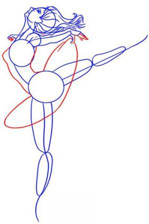 Как нарисовать балерину 14