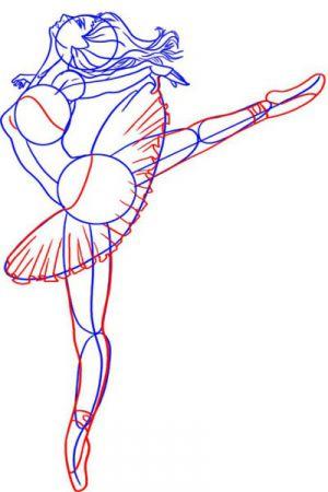 Как нарисовать балерину 15