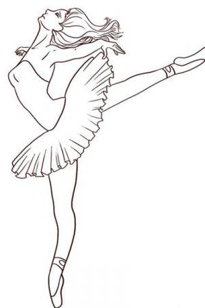 Как нарисовать балерину 16